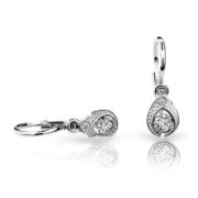 Zlaté detské náušnice s diamantom CUTIE (C1898) 1