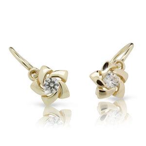 Zlaté detské náušnice s diamantom CUTIE (C2201)