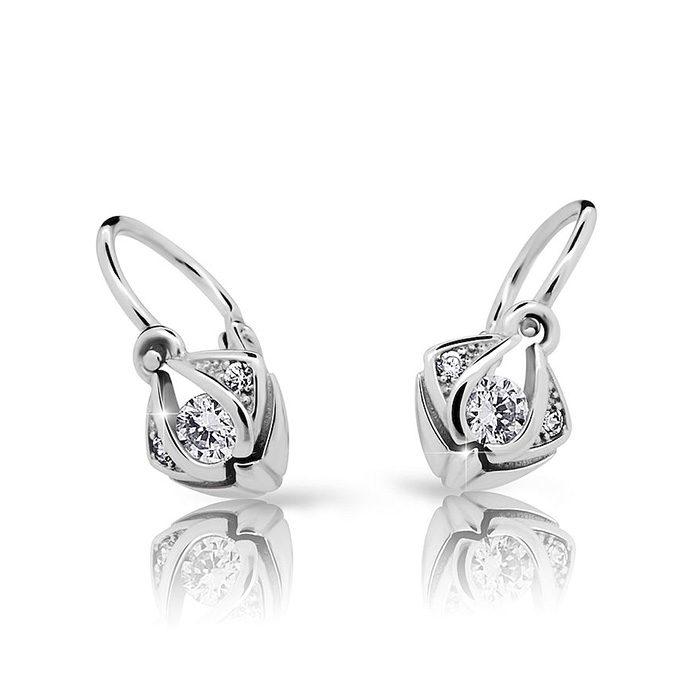 Zlaté detské náušnice s diamantom CUTIE (C2217) 1
