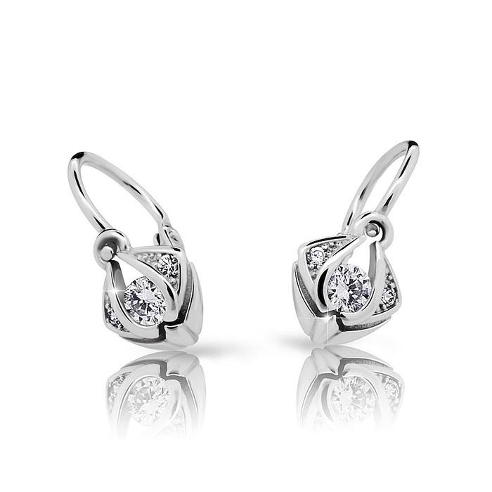 Zlaté detské náušnice s diamantom CUTIE (C2217)