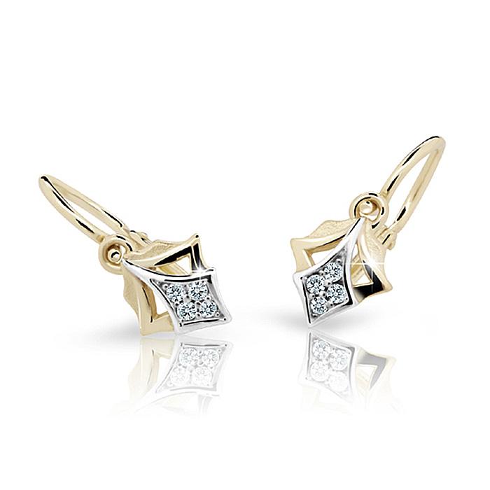 Zlaté detské náušnice s diamantom CUTIE (C2220)