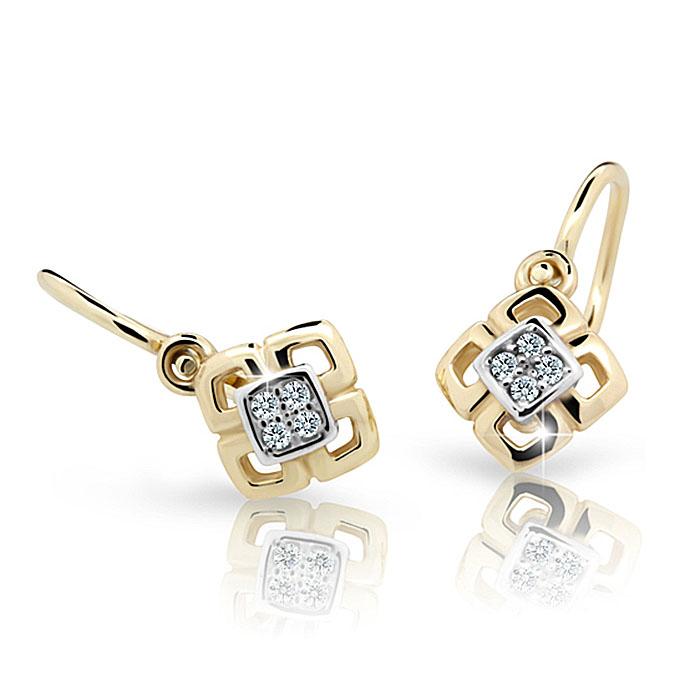 Zlaté detské náušnice s diamantom CUTIE (C2240)