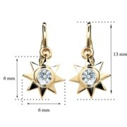 Zlaté detské náušnice s diamantom CUTIE (C1995) 2