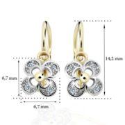 Zlaté detské náušnice s diamantom CUTIE (C2200) 2