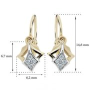 Zlaté detské náušnice s diamantom CUTIE (C2220) 2