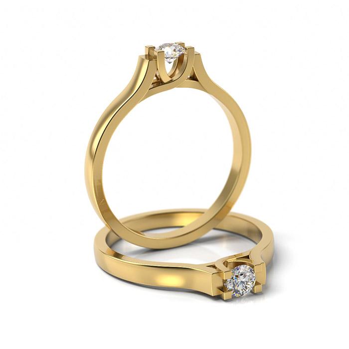 Zásnubný prsteň s diamantom ZP 301 3