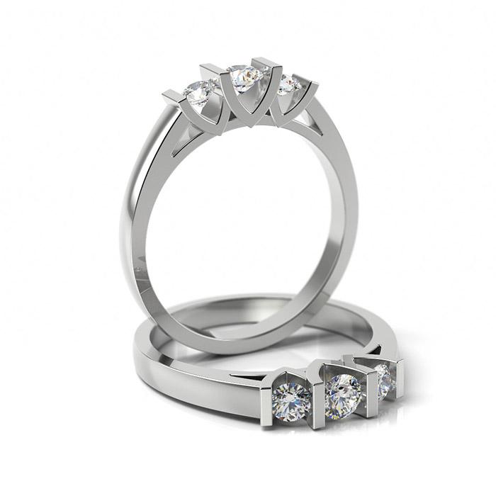 Zásnubný prsteň so zirkónom ZP 302
