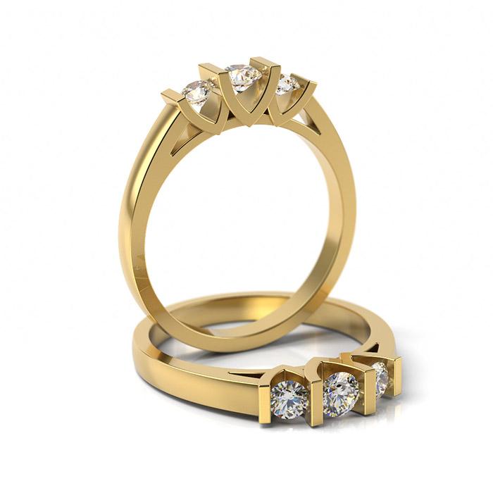 Zásnubný prsteň so zirkónom ZP 302 3