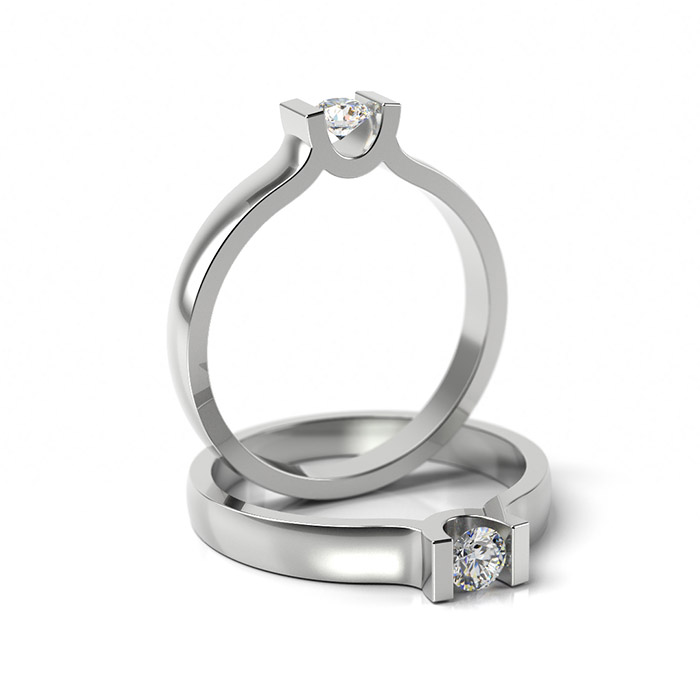 Zásnubný prsteň so zirkónom ZP 303