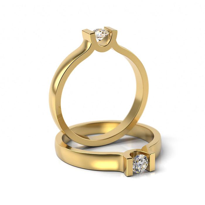 Zásnubný prsteň so zirkónom ZP 303 3