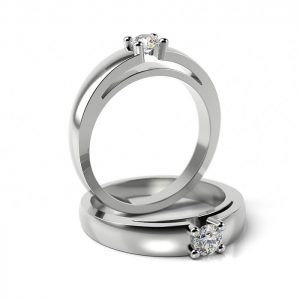 Zásnubný prsteň so zirkónom ZP 304