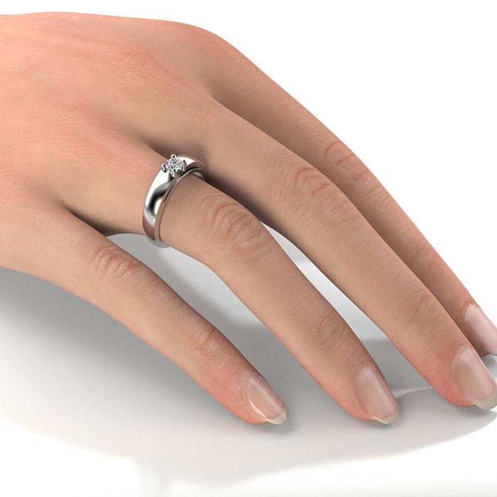 Zásnubný prsteň s diamantom ZP 304 2