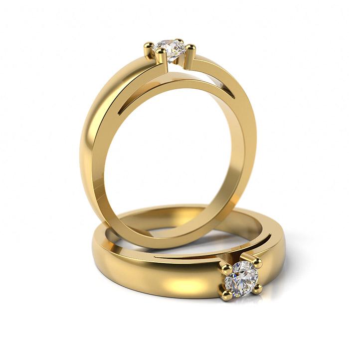 Zásnubný prsteň s diamantom ZP 304 3