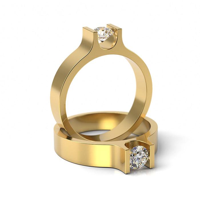 Zásnubný prsteň s diamantom ZP 305 3