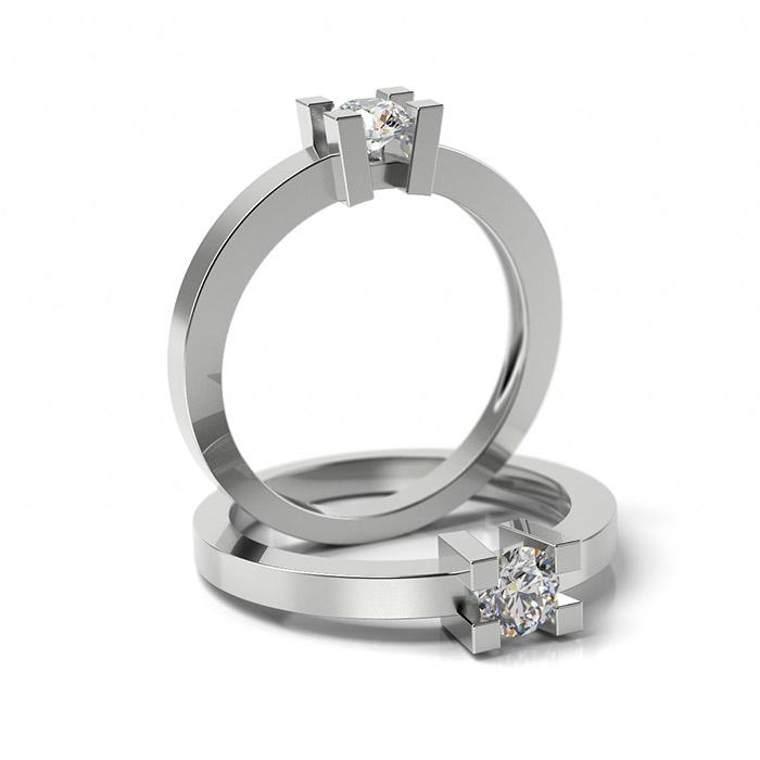 Zásnubný prsteň s diamantom ZP 306