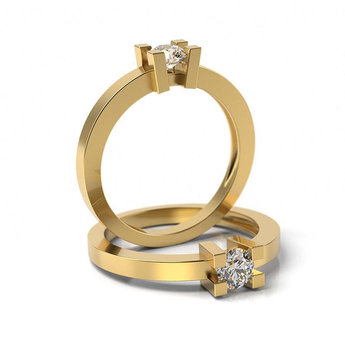 Zásnubný prsteň so zirkónom ZP 306 3