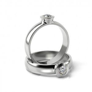 Zásnubný prsteň so zirkónom ZP 307