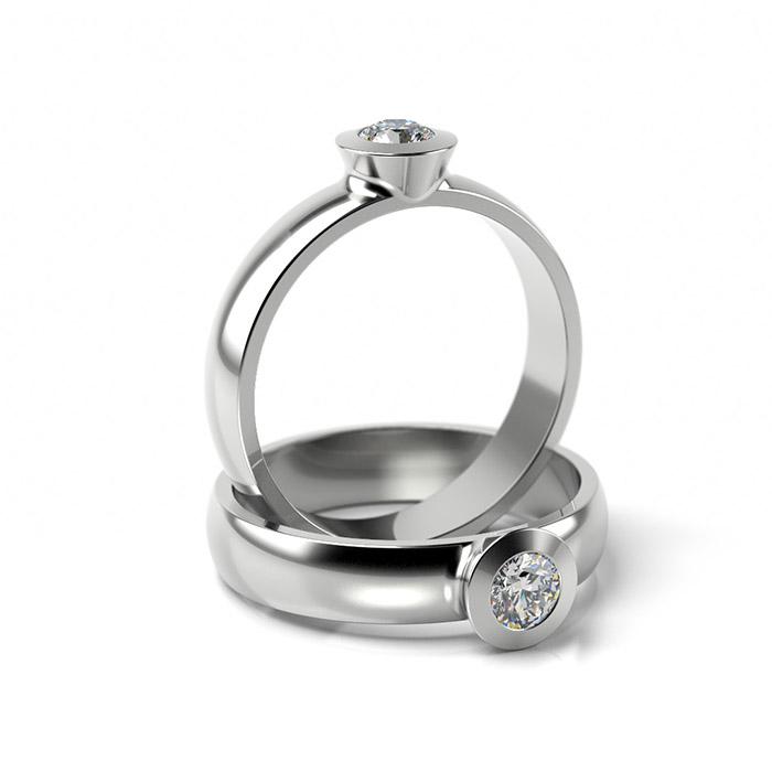 Zásnubný prsteň s diamantom ZP 307