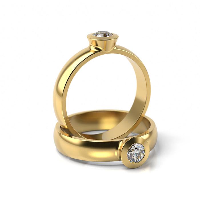 Zásnubný prsteň s diamantom ZP 307 3