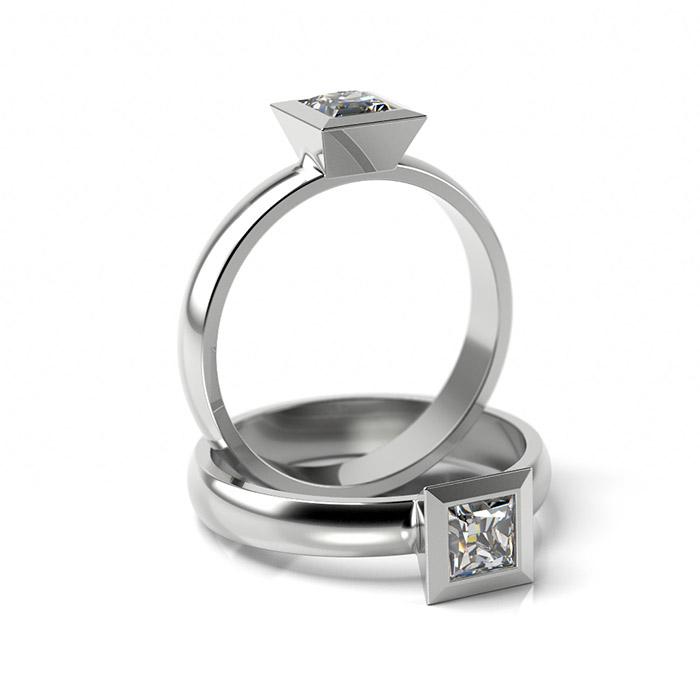 Zásnubný prsteň so zirkónom ZP 308