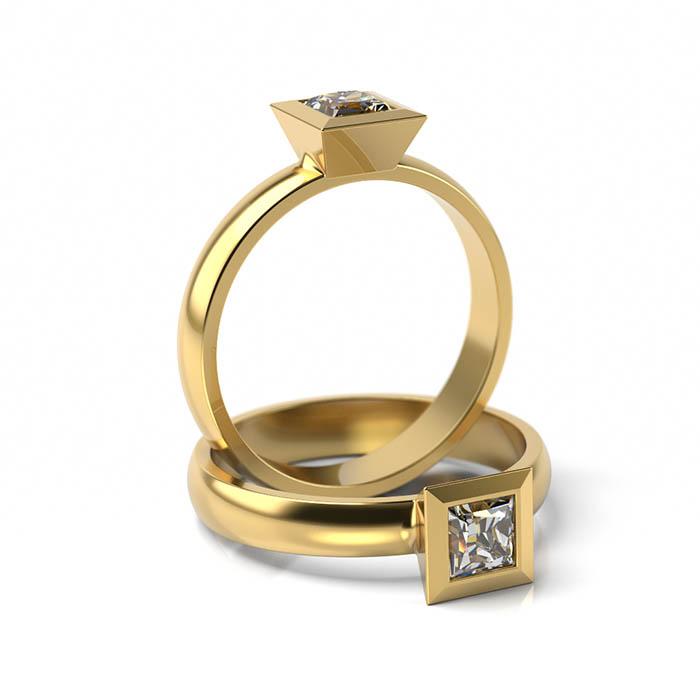 Zásnubný prsteň s diamantom ZP 308 3
