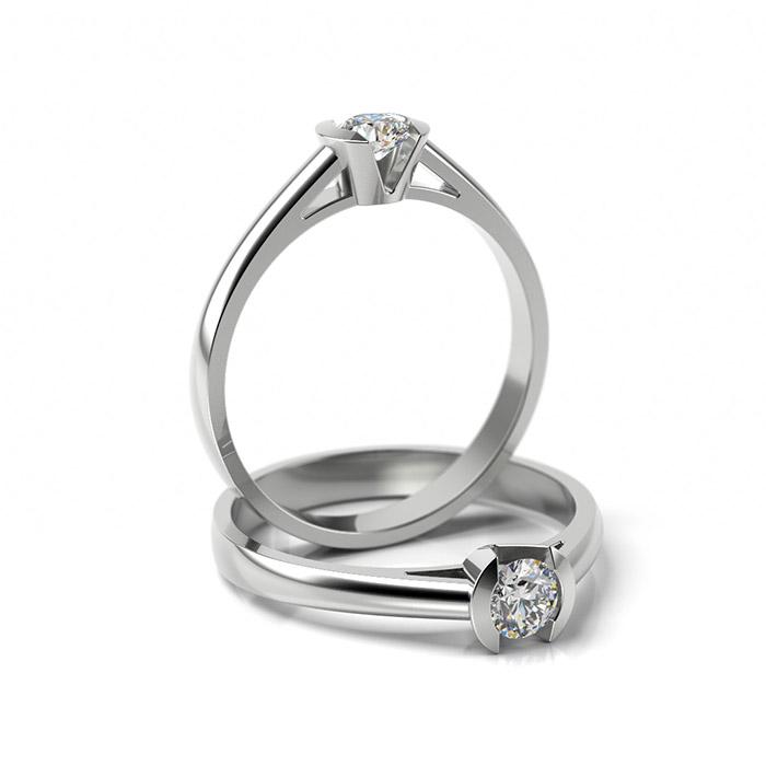 Zásnubný prsteň so zirkónom ZP 309