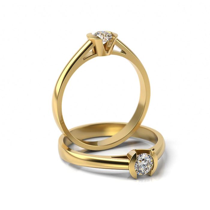 Zásnubný prsteň s diamantom ZP 309 3