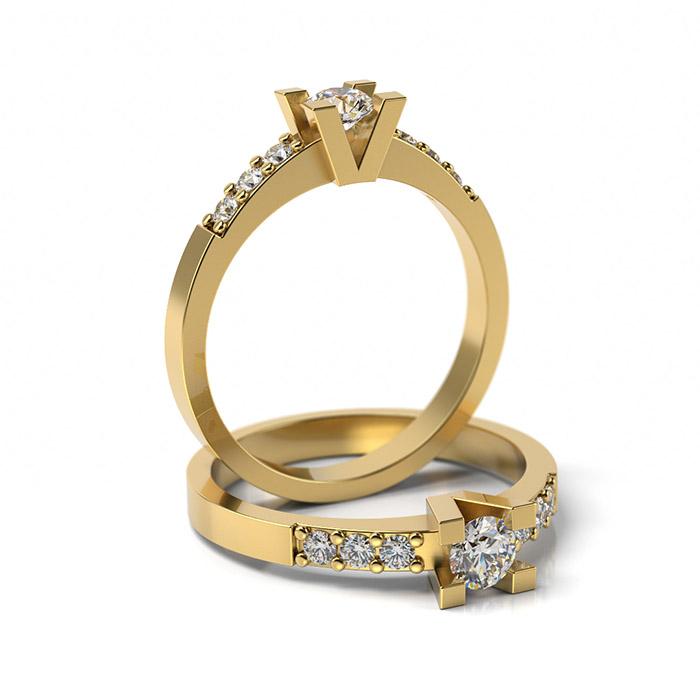 Zásnubný prsteň s diamantom ZP 310 3