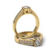 Zásnubný prsteň so zirkónom ZP 311 3