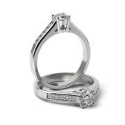 Zásnubný prsteň so zirkónom ZP 312