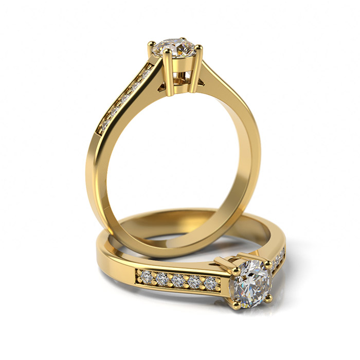Zásnubný prsteň s diamantom ZP 312 3