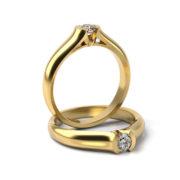 Zásnubný prsteň s diamantom ZP 316 3