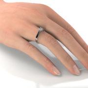 Zásnubný prsteň so zirkónom ZP 317 2