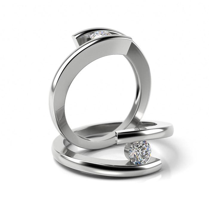 Zásnubný prsteň so zirkónom ZP 319 1