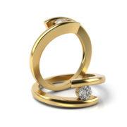 Zásnubný prsteň s diamantom ZP 319 3