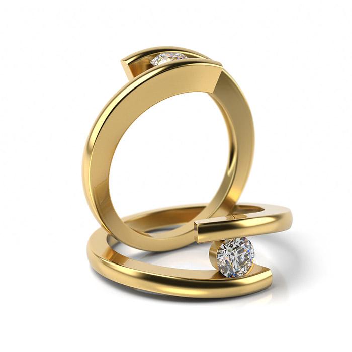 Zásnubný prsteň so zirkónom ZP 319 3