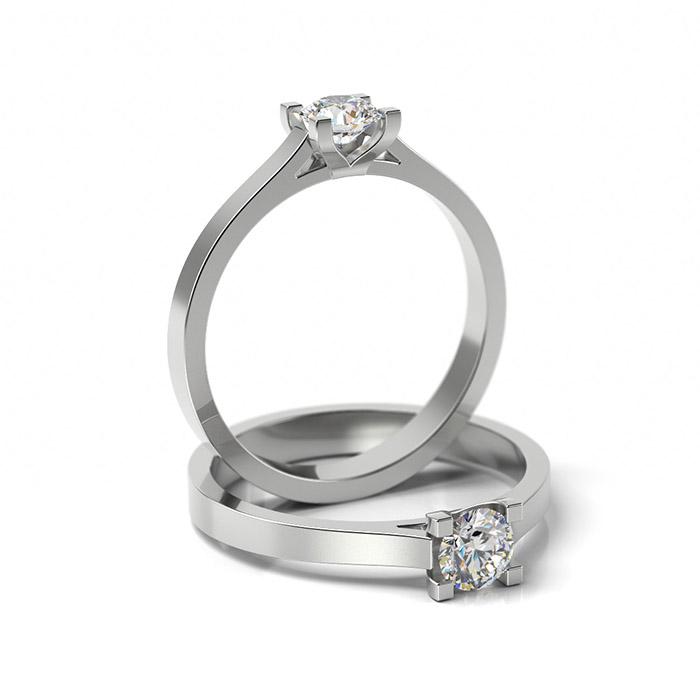 Zásnubný prsteň so zirkónom ZP 321 1