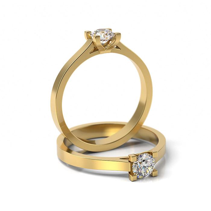 Zásnubný prsteň so zirkónom ZP 321 3