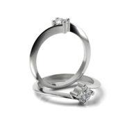 Zásnubný prsteň so zirkónom ZP 322