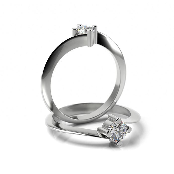 Zásnubný prsteň s diamantom ZP 322