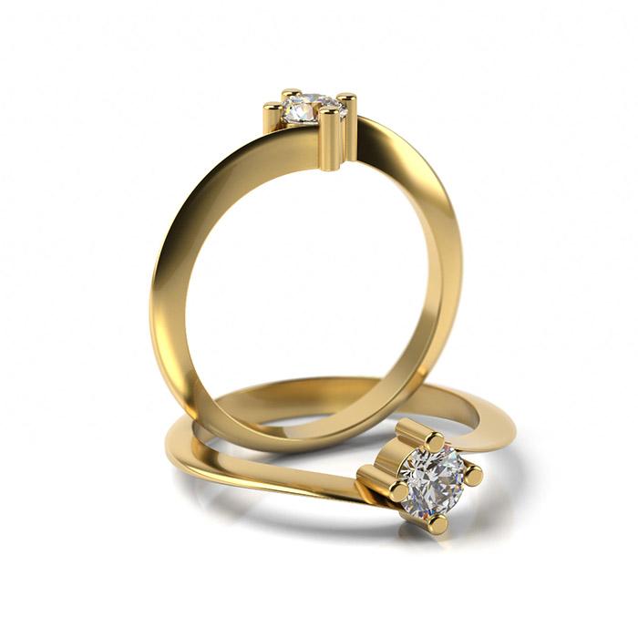 Zásnubný prsteň so zirkónom ZP 322 3