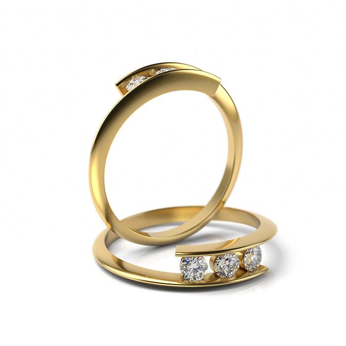 Zásnubný prsteň s diamantom ZP 323 3
