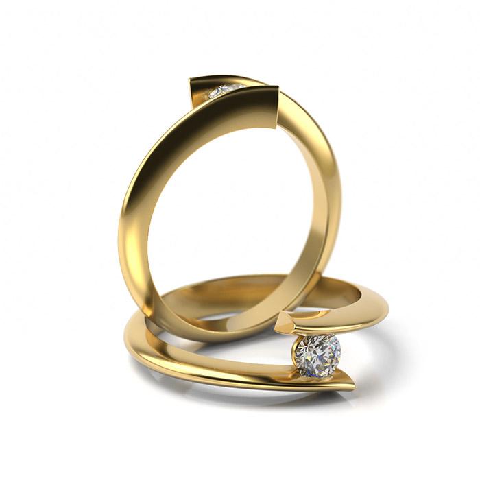 Zásnubný prsteň s diamantom ZP 324 3
