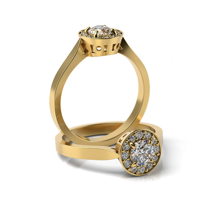 Zásnubný prsteň s diamantom ZP 325 3