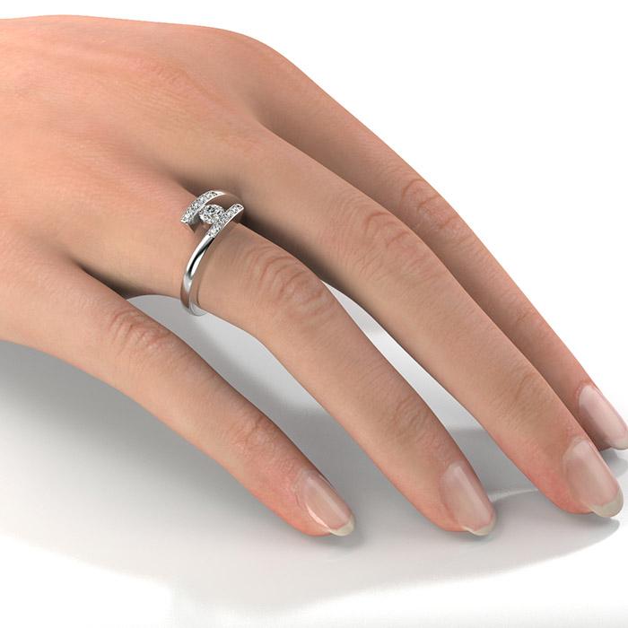 Zásnubný prsteň so zirkónom ZP 326 2