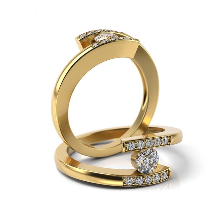 Zásnubný prsteň s diamantom ZP 326 3