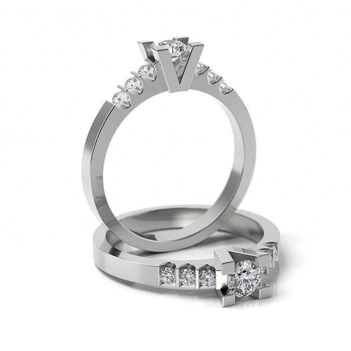 Zásnubný prsteň s diamantom ZP 327