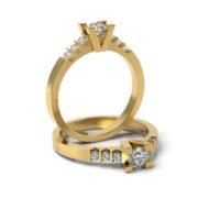 Zásnubný prsteň s diamantom ZP 327 3