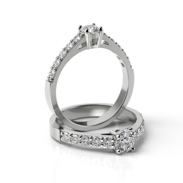 Zásnubný prsteň so zirkónom ZP 328 1