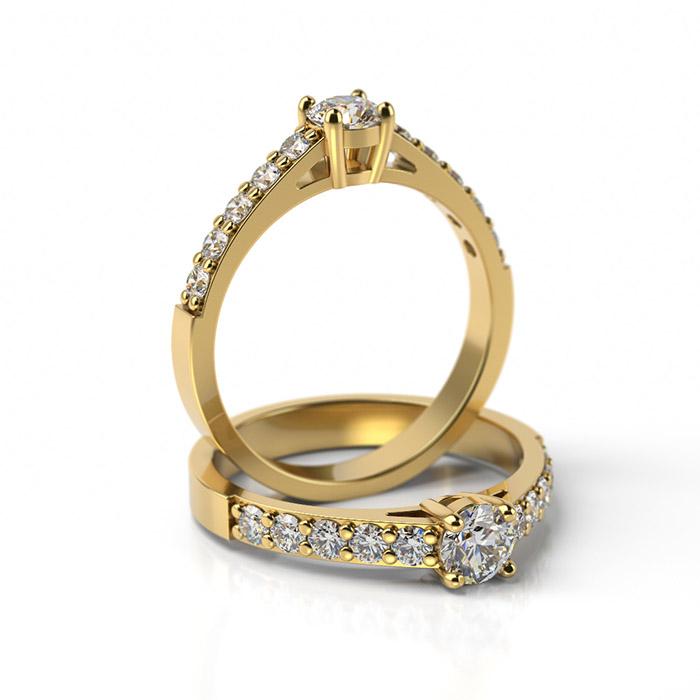 Zásnubný prsteň so zirkónom ZP 328 3